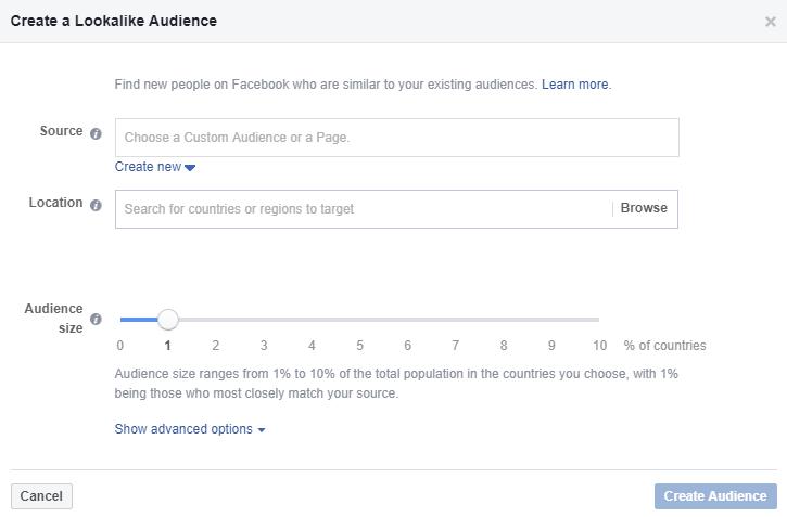 похожие аудитории Facebook, look-a-like audience